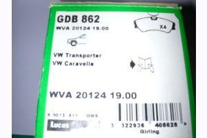 Bremsbelag VW Transporter GDB 862