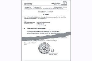 Gutachten Speedline Leichtmetallfelge 8,5x17 857DT