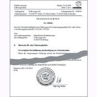 Herstellerbescheinigung Hyundai Starex